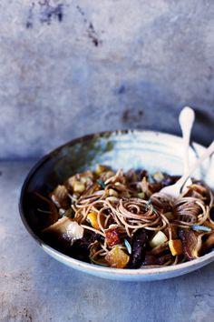 Wild Mushroom, Turnip, and Saffron Spelt Pasta