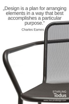 #zitate, #stuehlegarten,  # RiesProDesign Outdoor Chairs, Outdoor Furniture, Outdoor Decor, Charles Eames, Starling, How To Plan, Modern, Home Decor, Linz