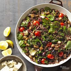 There's so much to love about the Mediterranean diet: fresh vegetables, tons of herbs, and high-protein recipes. Check out our list of Mediterranean recipes, complete with hummus, souvlaki, seafood, and lamb recipes.