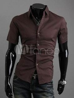 Brown Cotton Men's Fashion Casual