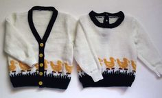 Duckies Cardigan and Pullover