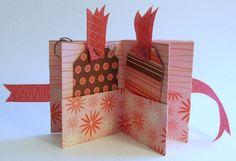 How to Make Mini Scrapbooks: One Sheet of Cardstock Mini Pocket Scrapbook