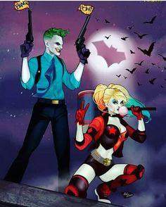 Joker and Harley Quinn Comic Book Characters, Comic Character, Comic Books, Marvel Comics, Marvel Dc, Dc Comics Peliculas, Harely Quinn, Joker Art, Batman