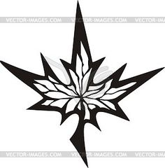 Maple leaf tattoo - vector clip art