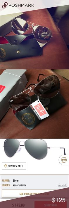 They're just not right for me. Ray-Ban aviator glasses new with tags Ray-Ban Accessories Glasses