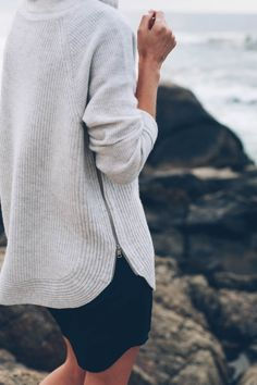 VINCE. Cashmere knit sweater on Jess Kirby