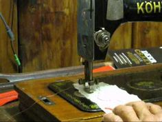 I Show An Old Kohler Hand Crank Sewing Machine And How To Thread It. It Is  A Shuttle Or Vibrating Shuttle Machine.