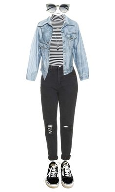 """285"" by theodora-manesca ❤ liked on Polyvore featuring Topshop, Faustine Steinmetz and Vans"
