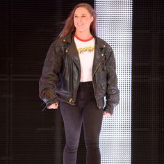 Ronda Rousey shocks the WWE Universe and makes her way to the ring following the first-ever Women's Royal Rumble Match.
