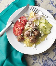 Lamb Meatballs with Couscous and Feta (2010) #monthofdinners