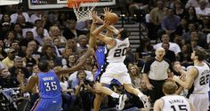 2012 NBA Playoffs : Manu Ginobili's 26 Points Spark Spurs 39-27 Fourth Quarter Run To Hold Off Thunder, 101-98, In Game 1 Of West Finals