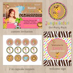 DIY Jungle Safari Girl Birthday Party Pack  by printablecandee, $30.00