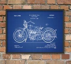 Harley Davidson Motorcycle Patent Print 3  by QuantumPrints