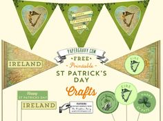 Free St. Patricks Day printables for flag garland and more!