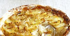 A classic boulangere is sliced potatoes, onions and stock, baked until tender - think a healthier version of dauphinoise. This recipe uses seasonal Jerusalem artichokes aswell.