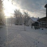 Morgendämmerung im Winter