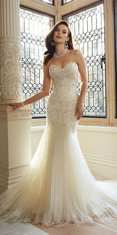 24 Totally Unique Fashion Forward Wedding Dresses ❤️ We collected totally unique and trendy wedding gowns. See more: http://www.weddingforward.com/fashion-forward-wedding-dresses/ #wedding #dresses