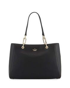 KATE SPADE ROBSON LANE ANABEL LEATHER SHOULDER BAG, BLACK. #katespade #bags #shoulder bags #hand bags #leather #lining #
