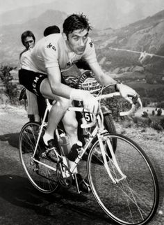 Eddy Merckx at the Col d'Aubisque 1969 Tour de France.