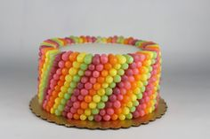 Learn how to make this Mike and Ike Candy Cake by Lil' Miss Cakes #chosencandy