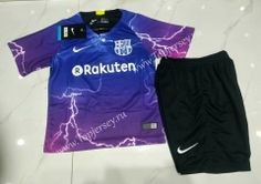 4f3fb4625 topjersey provides cheap and quality Special Version Barcelona Purple Kid Youth  Soccer Uniform with the information of price