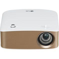 LG - MiniBeam 720p Wireless DLP Projector - Brown/white, PH150G