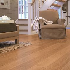 Quick-Step Perspective 4 Natural Varnished Oak timeless elegance and neutral simplicity of a varnished natural oak effect Quick-Step laminate Parquet Flooring, Laminate Flooring, Quick Step Flooring, Home Interior Design, Natural, Perspective, Lounge, Wood Floor, Wood