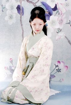Rafu-Sen is the Japanese Goddess of Plum Blossoms. She is portrayed as a maiden who wanders in the forest at night, with the scent of the blossoms surrounding her. Japanese Goddess, Japanese Mythology, Ancient Goddesses, Gods And Goddesses, Korea, Night Forest, Textiles, Japan Art, Japanese Kimono