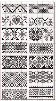 Elegant fair isle knitting patterns no floss numbers, but will be . Fair Isle Chart, Motif Fair Isle, Fair Isle Pattern, Fair Isle Knitting Patterns, Knitting Machine Patterns, Knitting Charts, Knitting Stitches, Sock Knitting, Vintage Knitting
