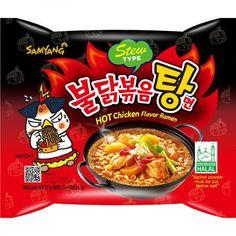 Samyang Stew Type Spicy Hot Chicken Ramen Korean Stir-Fried Noodle Oz (Pack of Chicken Flavors, Miso Ramen Broth Recipe, Ramen Noodles Nutrition, Japan Street Food, Easy Korean Recipes, Cafeteria Food, Junk Food Snacks, Asian Snacks, Sweets
