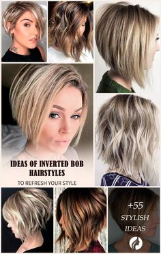 All the inverted bob hairstyles: stacked choppy short curly with side bangs All the inverted bob hairstyles: stacked choppy short curly with side bangs with layers are gathered here! Source by glaminati Inverted Bob Hairstyles, Bob Hairstyles For Fine Hair, Lob Hairstyle, Hairstyles Haircuts, Curly Inverted Bob, Stacked Hairstyles, Bob Haircuts, Langer Bob, Side Bangs