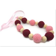 Buy Love Crochet Art Necklace with wooden bead Nursing Teething Necklace Handmade - Pink by Love Crochet Art, on Paytm, Price: Rs.299