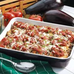 Beefy Eggplant Parmigiana!!!This is a go to recipe in my house..my Daughter will not eat eggplant any other way!She requests me to make this often!Very Delish!