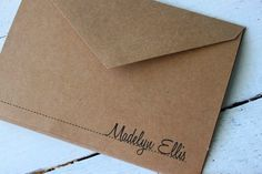 Personalized Note Card Stationery  Custom Stationary Kraft Paper  - Set of 10
