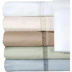 Veratex Princeton Collection 300-Thread Count Bedding Sheet Set, White