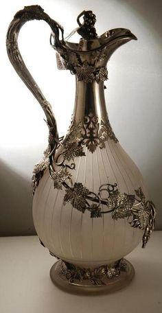Victorian Silver Claret Jug by Elkington.