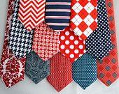 Boys Neckties Red White & Blue USA Nautical photo prop