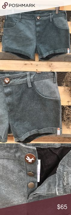 """NWT ONE any ONE TEASPOON Suede Leather Shorts S New with tags! Gorgeous Gray Suede shorts. Fully lined. Gorgeous! Waist: 15"""" Inseam: 3.5"""" One Teaspoon Shorts"""