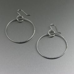 Hand-Chased Stainless Steel Hoop Earrings featured on WeHeartIt by jewelry designer John S Brana. Paper Jewelry, Resin Jewelry, Pearl Jewelry, Beaded Jewelry, Jewelery, Handmade Jewelry, Unique Jewelry, Diy Jewellery, Jewellery Storage