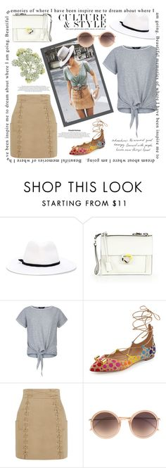 """A walk in the afternoon..."" by linefreh ❤ liked on Polyvore featuring Forte Forte, Salvatore Ferragamo, Balmain, Linda Farrow, women's clothing, women, female, woman, misses and juniors"