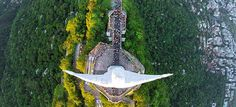 As Melhores Fotos por Drones de 2015 Cristo Redentor, Rio de Janeiro