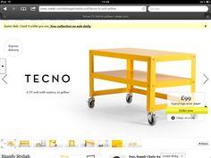made.co.uk Tecno media storage on castors yellow Easter Sale, Media Storage, Tecno, Tv Unit, Kitchen Cart, Desk, Movie, Yellow, Room