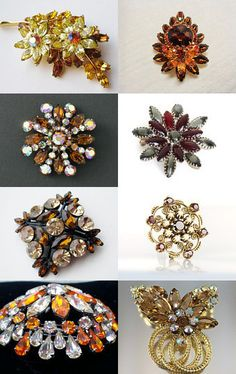 Warm It Up Brooches Team Love Daily Treasury by Tracy B on Etsy--Pinned with TreasuryPin.com