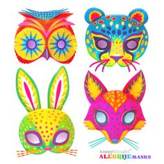 Make your own Alebrije masks using these easy printable templates! Inspired by Alebrije sculptures. Learn more about Alebrijes here: 4 printable paper craft DIY-alebrijes-mask templates and patterns Day of the Dead Coco party Diy Crafts To Do, Fun Arts And Crafts, Do It Yourself Crafts, Arts And Crafts Projects, Decor Crafts, Paper Crafts, Craft Decorations, Diy Decoration, Kids Crafts