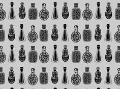 """""""100 magic potions"""" by ereseigh bottles, potions, perfume, glass, decor, drinks, ereseigh, colourlovers"""