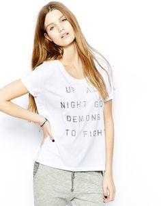 Zoe Karssen Up All Night - T-shirt à imprimé sur shopstyle.fr