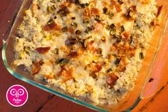 Baked Cauliflower Casserole Add chicken and its a meal!