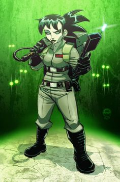 Ghostbuster Kylie Griffin - EoSS Commish by EryckWebbGraphics Ghostbusters The Video Game, Extreme Ghostbusters, The Real Ghostbusters, Cartoon Brain, Girl Cartoon, Kylie, Die Geisterjäger, Et The Extra Terrestrial, Movies
