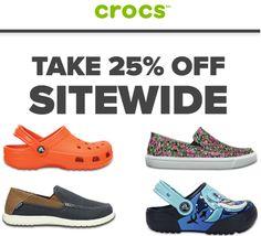 Crocs Canada Online Offers: Save 25% off Sitewide http://www.lavahotdeals.com/ca/cheap/crocs-canada-online-offers-save-25-sitewide/175172?utm_source=pinterest&utm_medium=rss&utm_campaign=at_lavahotdeals