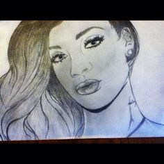 My drawing of Rihanna -Lizzy Dykes